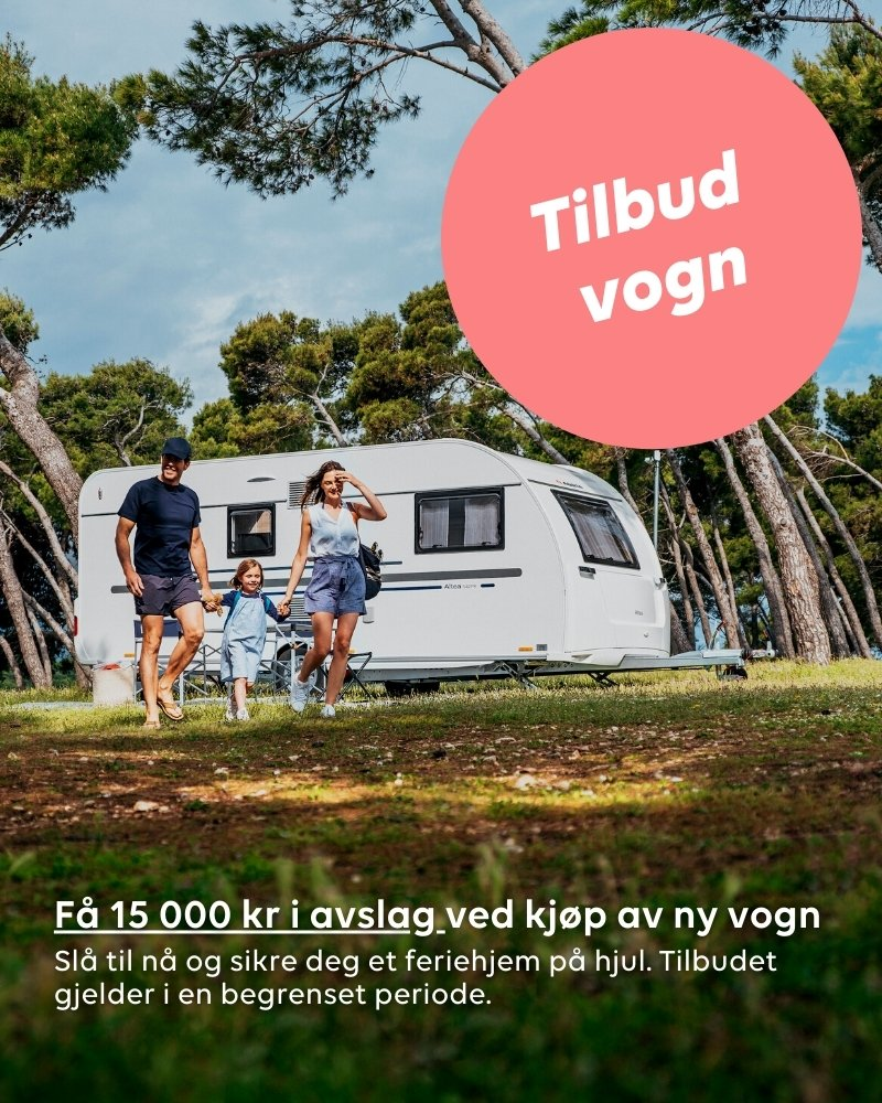 Tilbud på nye campingvogner hos Ferda!